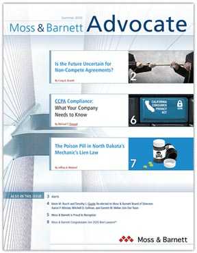 Summer 2020 Advocate Newsletter Cover