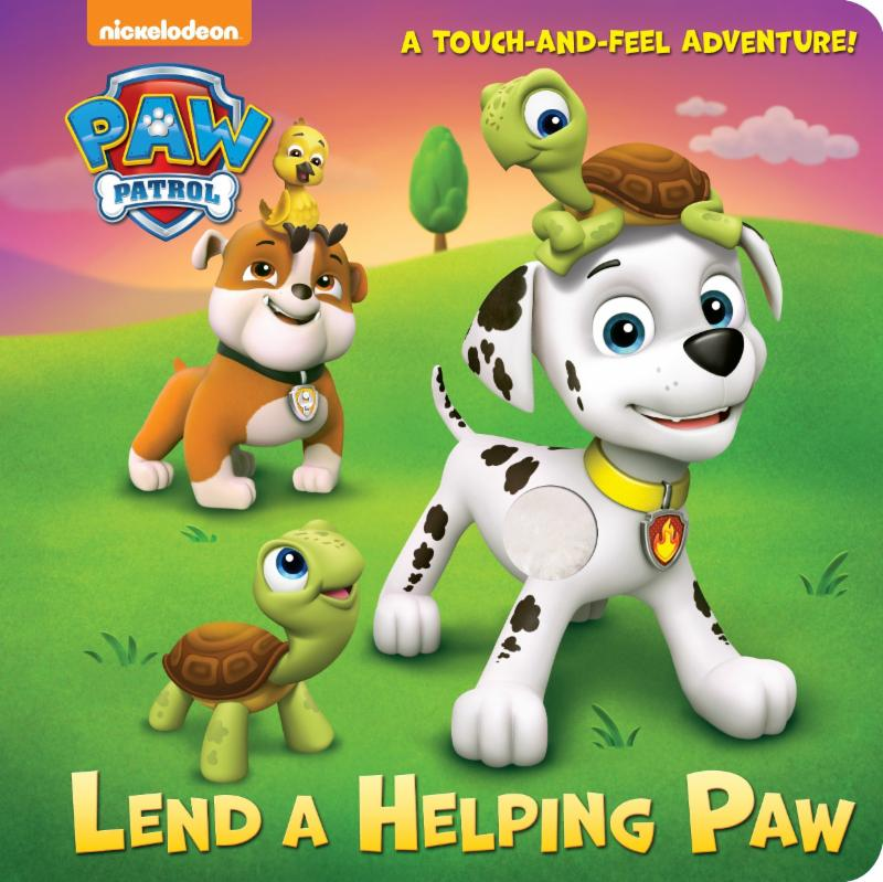 Front cover of Lend a Helping Paw showing a couple of dogs and turtles.