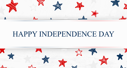 Independence Day. US Independence Day.  Happy Independence Day. Independence Day 4th july. Template background with USA falling confetti stars for greeting cards_ posters_ banner_ leaflets_ brochure