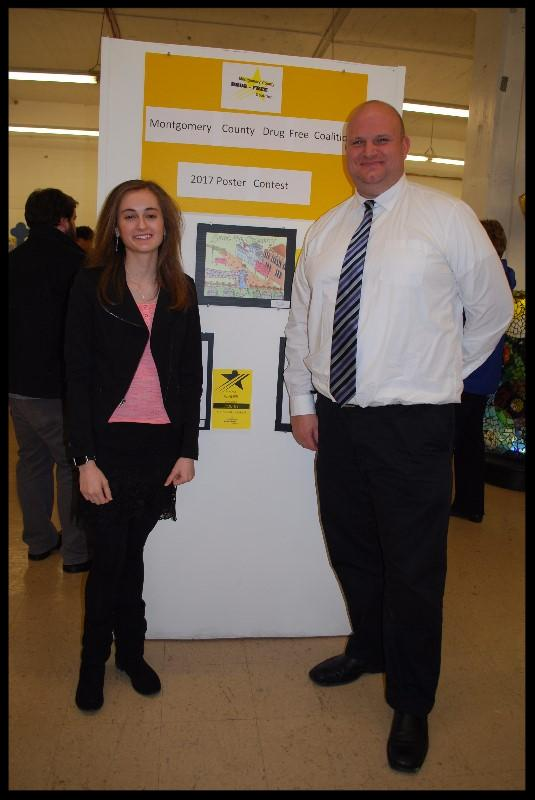 Abigail Kerestes with Principal Jeff Berk