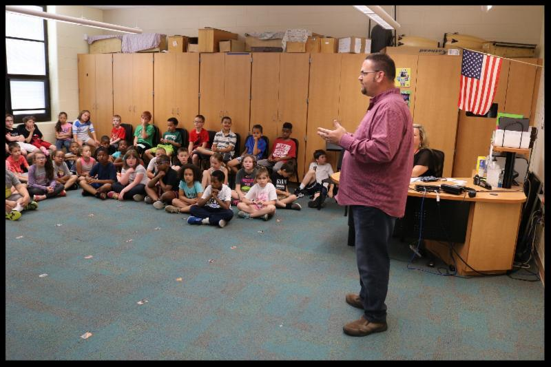 Huber Heights Mayor Jeff Gore Speaking to Wright Brothers Students