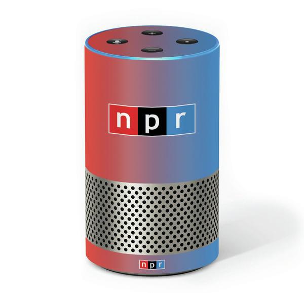 Amazon Echo with NPR label