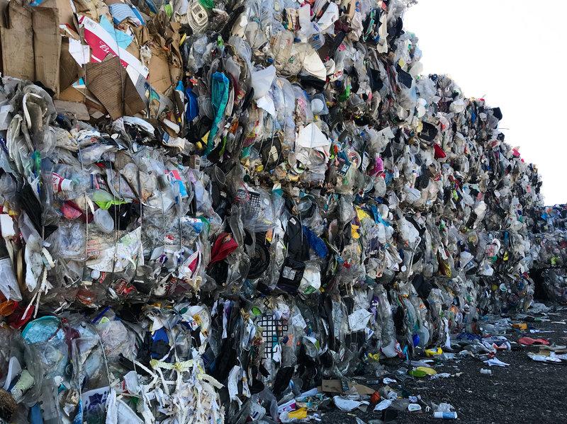 mountain of plastic trash