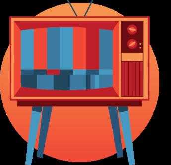 illustration of TV set