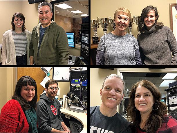 photos of listeners and staff