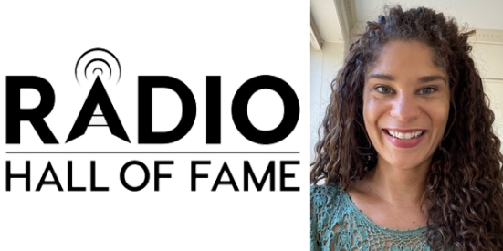 Radio Hall of Fame with photo of woman