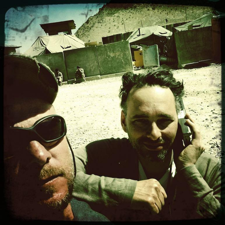selfie of two men in military gear