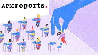 illustration of students sitting at desks