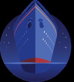 illustration of ship
