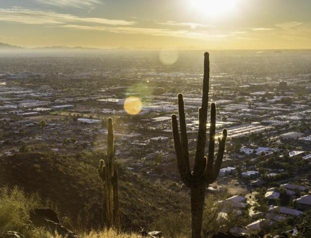 sun beats down on Arizona city