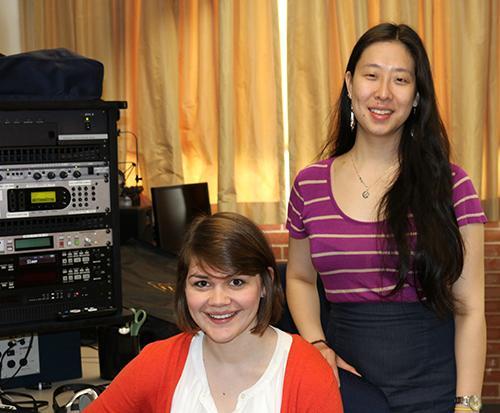 two women in studio