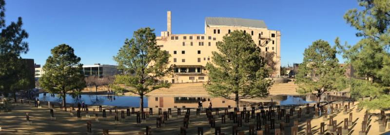 panoramic view of OKC Memorial