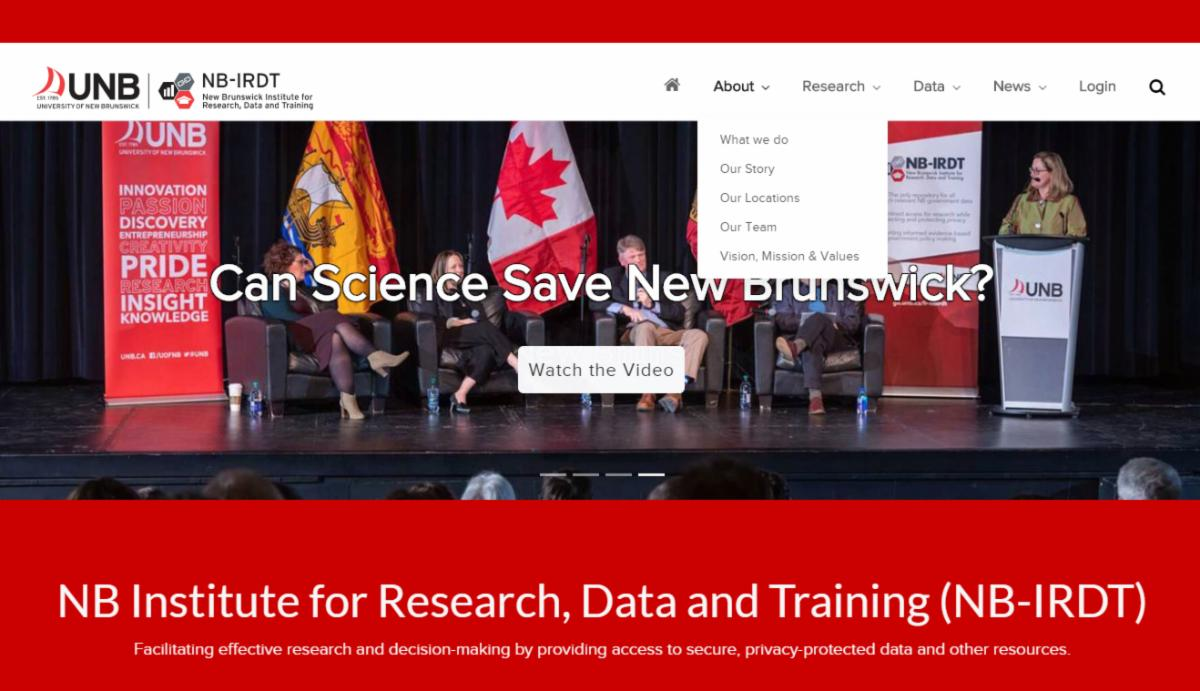 NBIRDT Website Homepage