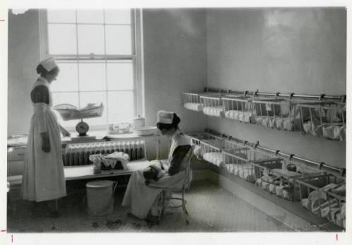 Maternity Ward, Ellis Hospital Collection, 	 Schenectady County Historical Society