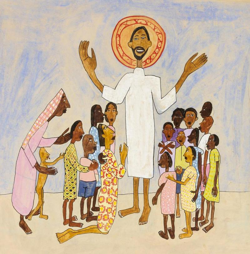 William Henry Johnson 1901 to 1970 Come Unto Me Little Children From Art in the Christian Tradition  a project of the Vanderbilt Divinity Library Nashville  TN