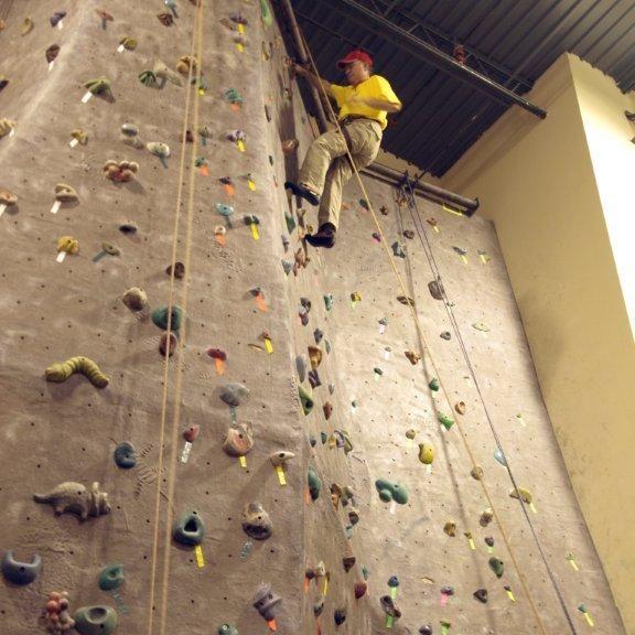 Kipp at Rock Climbing Lock-In