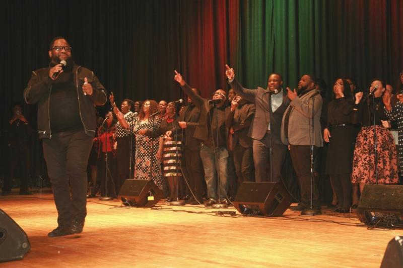 Bishop Hezekiah Walker and the Love Fellowship Tabernacle at the Concert for College