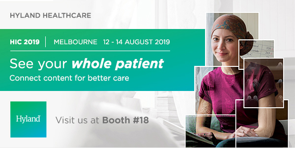 Hyland healthcare - visit us at Booth 18 at HIC