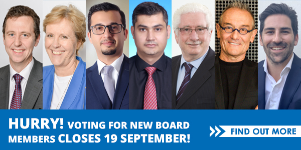 Voting for the new board closes 19 September
