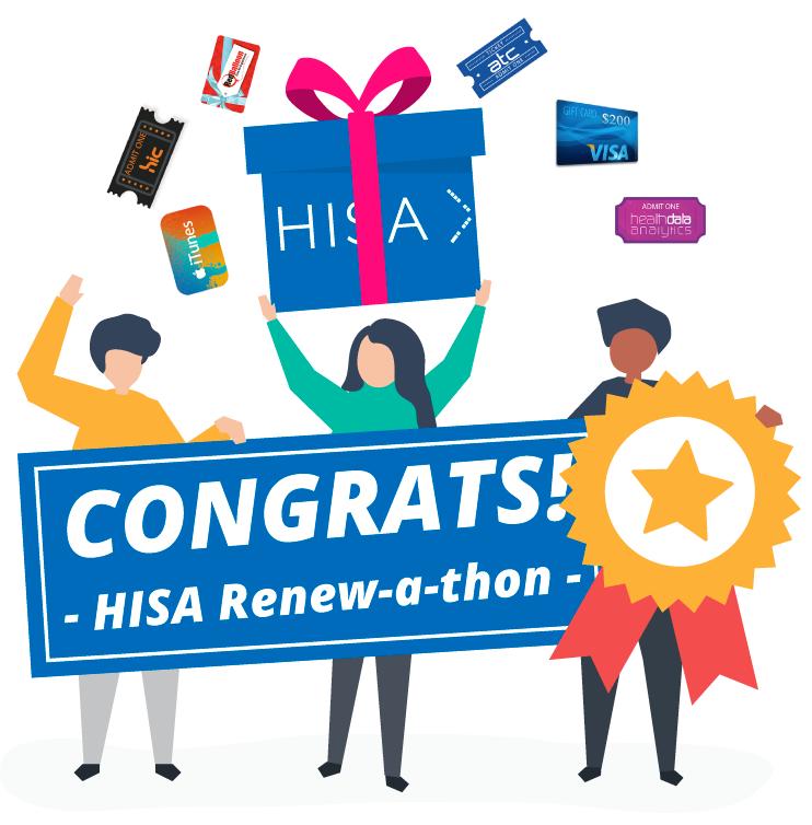 Congrats HISA Renew-a-thon winners!