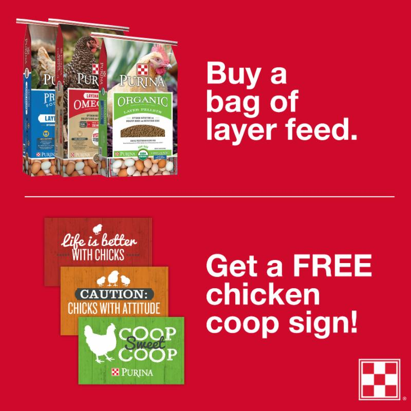 Stop by your local Farmers Coop and get a FREE limited-edition coop sign, with purchase, during Flocktober.