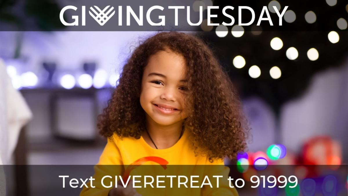 Giving Tuesday. Text GiveRetreat to 91999.