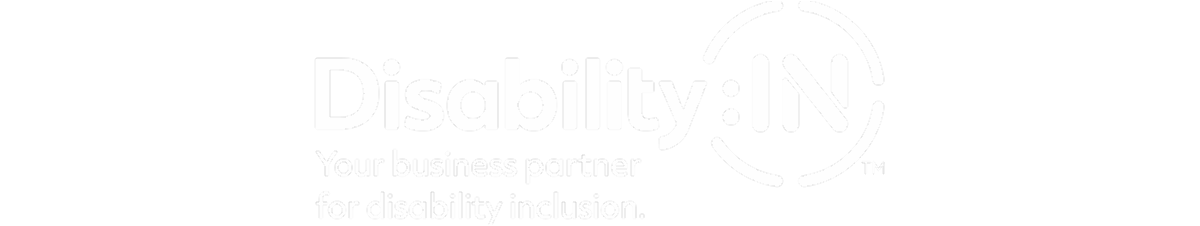 Disability IN logo. Your business partner for disability inclusion tagline.