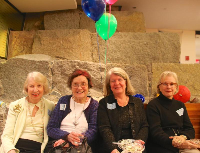 Friends celebrating at the annual Parish Party