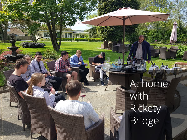 Wine education with Rickety Bridge