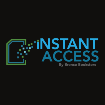 instant access logo on black screen