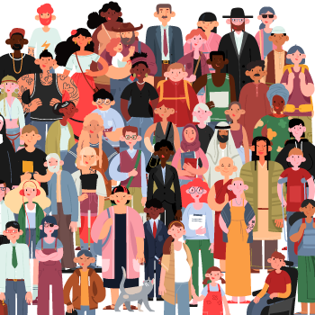A diverse crowd