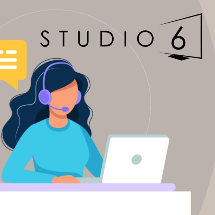 Studio 6 girl with laptop