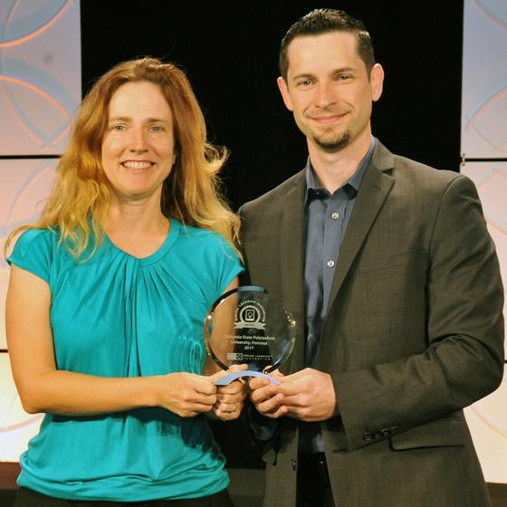 Paul Nissenson and colleague receiving award