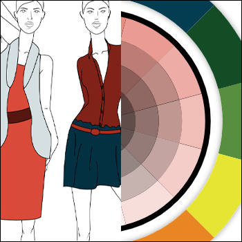 color wheel and two models
