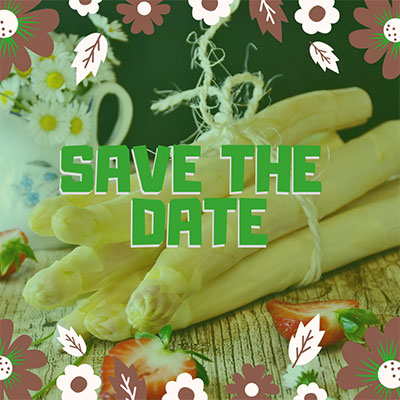 Spargelessen Save the Date