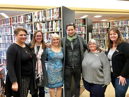 Emmy award winning Soap Opera star Roger Howarth stopped by the library to say hi while on a break from his role as Franco on General Hospital. And we thought Advocacy Day was exciting!