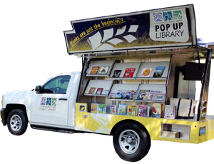 CPL Pop Up Library van model