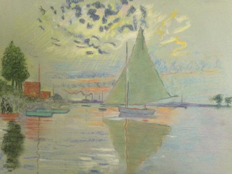 Greg Maichack - Pastel Sailboat demonstration