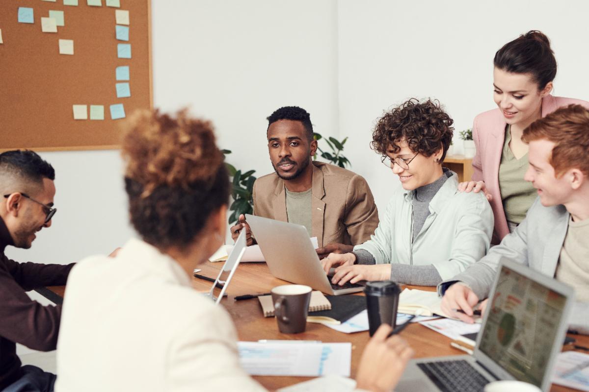 Group of people having a meeting