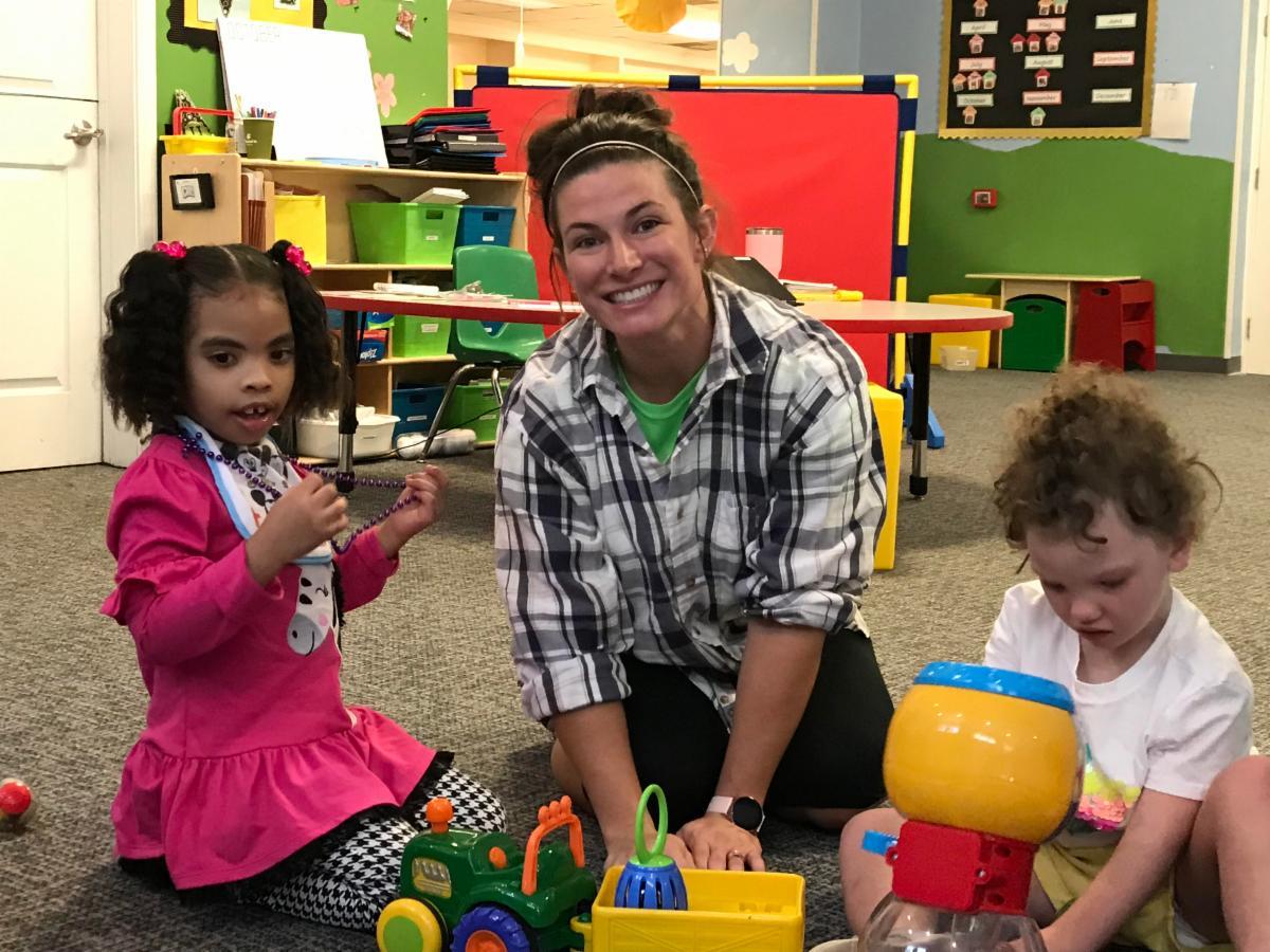 Melissa with Bridges kiddos