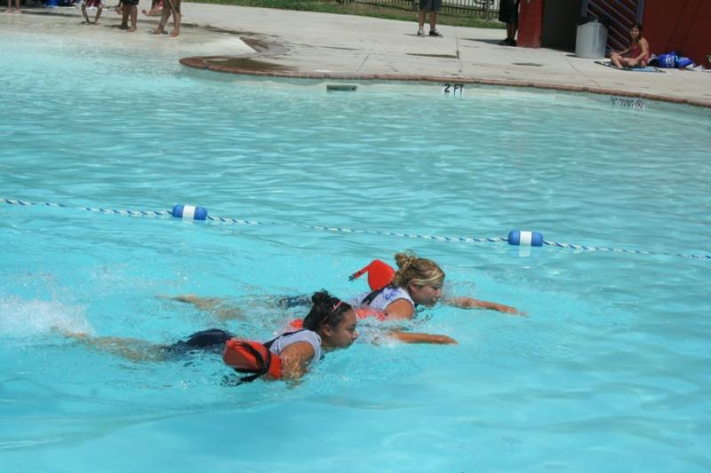 Lifeguards Swimming