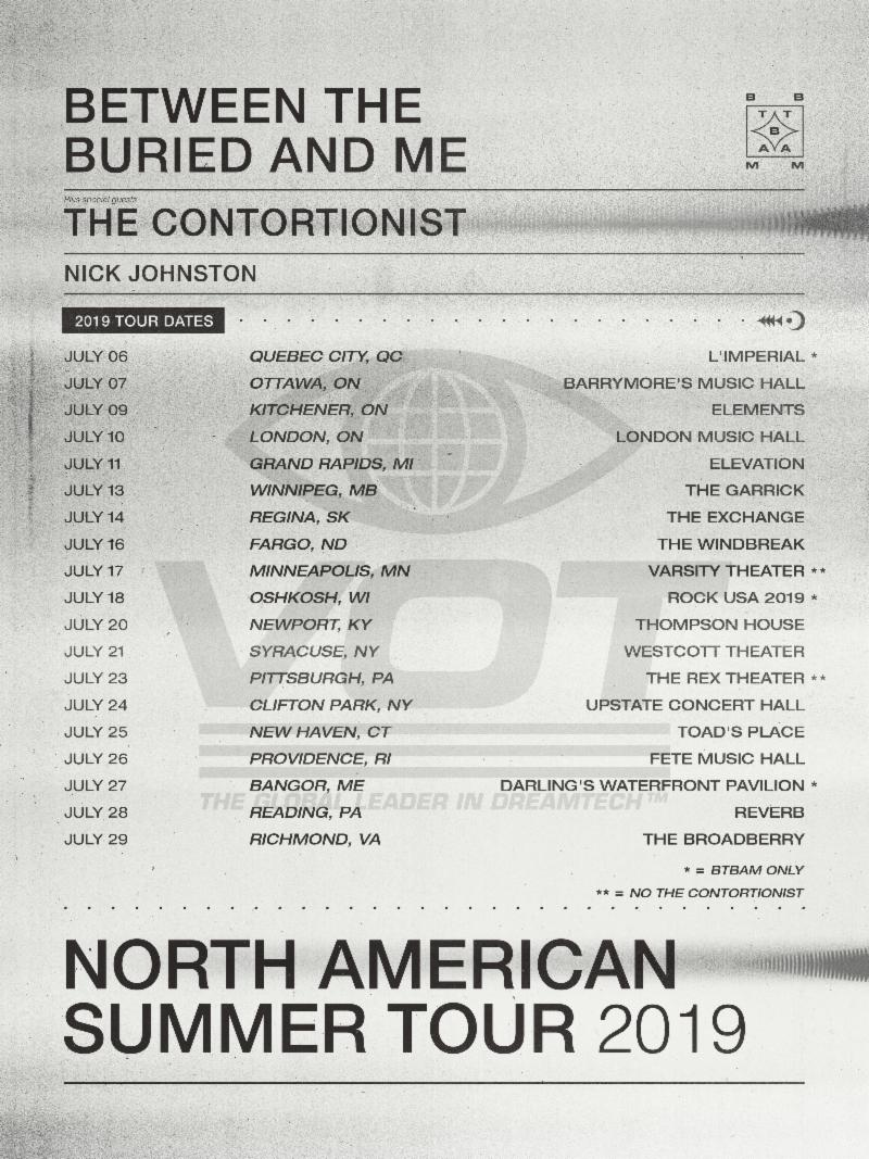 Between The Buried And Me Announce Us Tour Dates