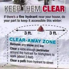 fire hydrant snow clearing diagram