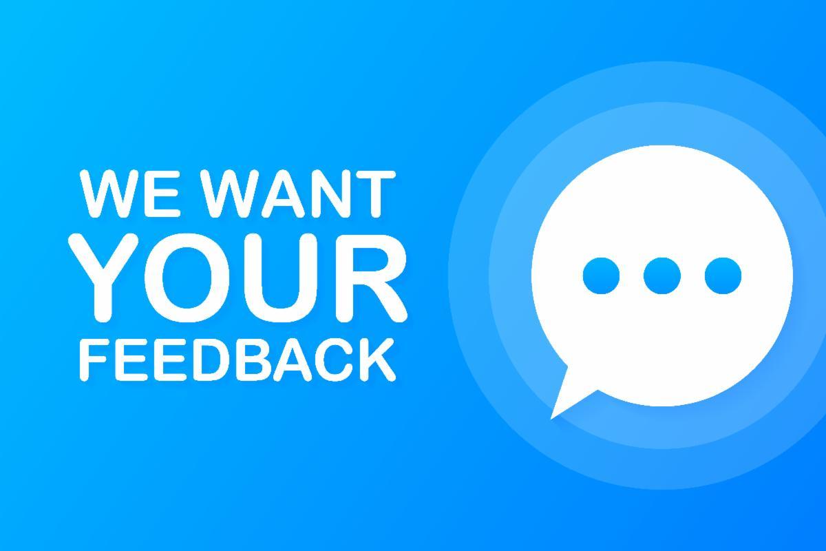We want your feedback image