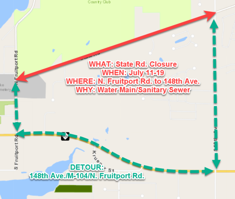 State Road detour route