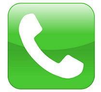 phone handset on green background