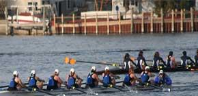 8-man crew racing on Spring Lake