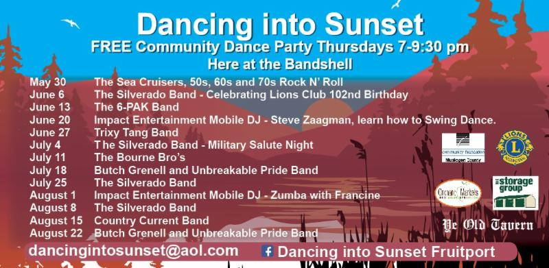 Dancing into Sunset schedule