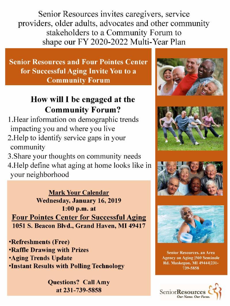 Senior Resources flyer