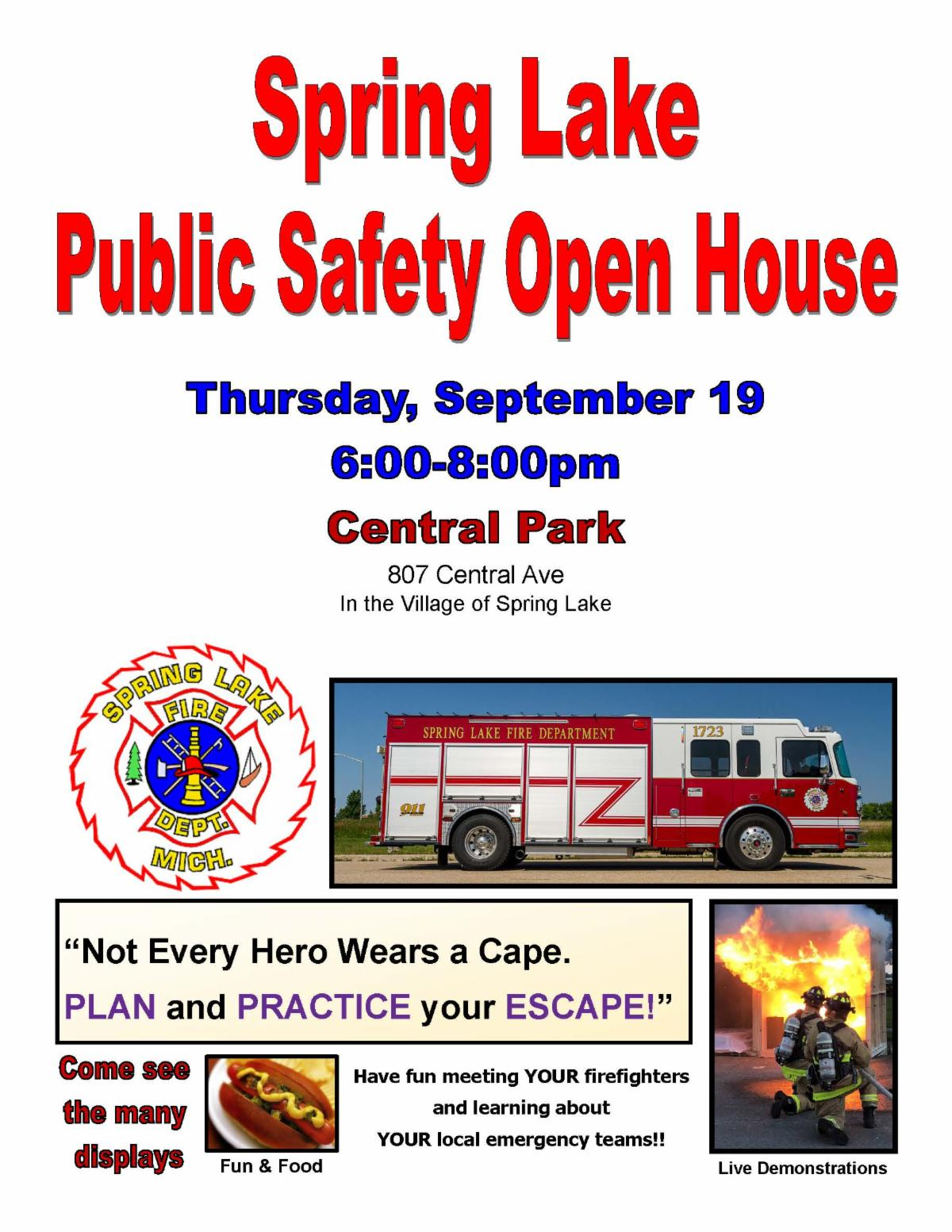public safety open house poster